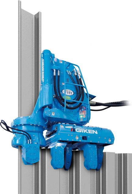 The Silent Piler, a virtually noise- and vibration-free hydraulic press-in machine