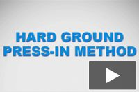 Hard Ground Press-in Method