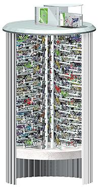 204台の自転車を地下に高速収容