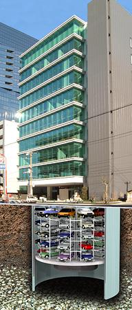 稼ぐ耐震構造基礎式オフィスビル 外観