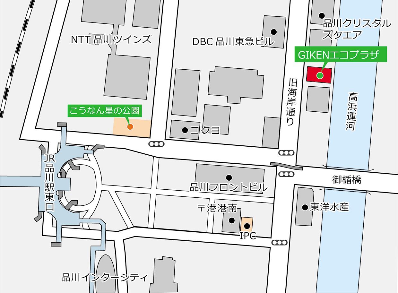 GIKENエコプラザの地図