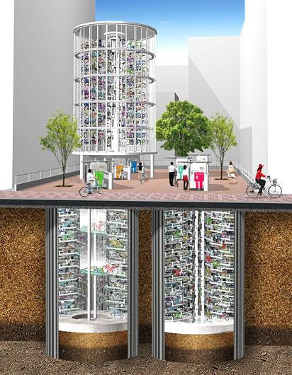 地下式と地上式を組み合わせて省スペースで大量収容 その1