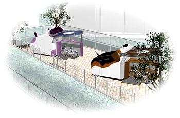 入出庫ブースの外観は周辺環境に合わせてデザインすることが可能