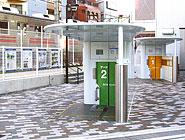 駅に隣接したエコサイクル設置例