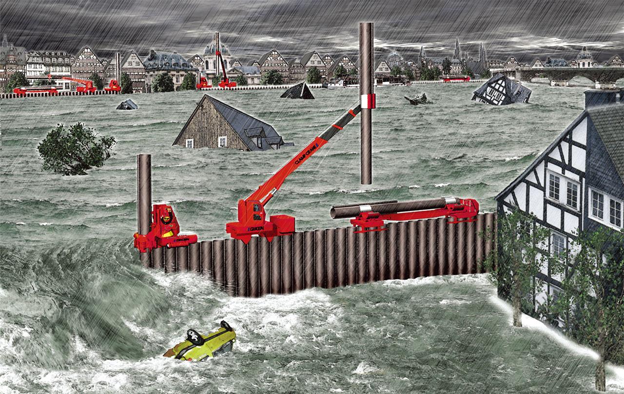 堤防決壊対策「インプラント堤防」 2