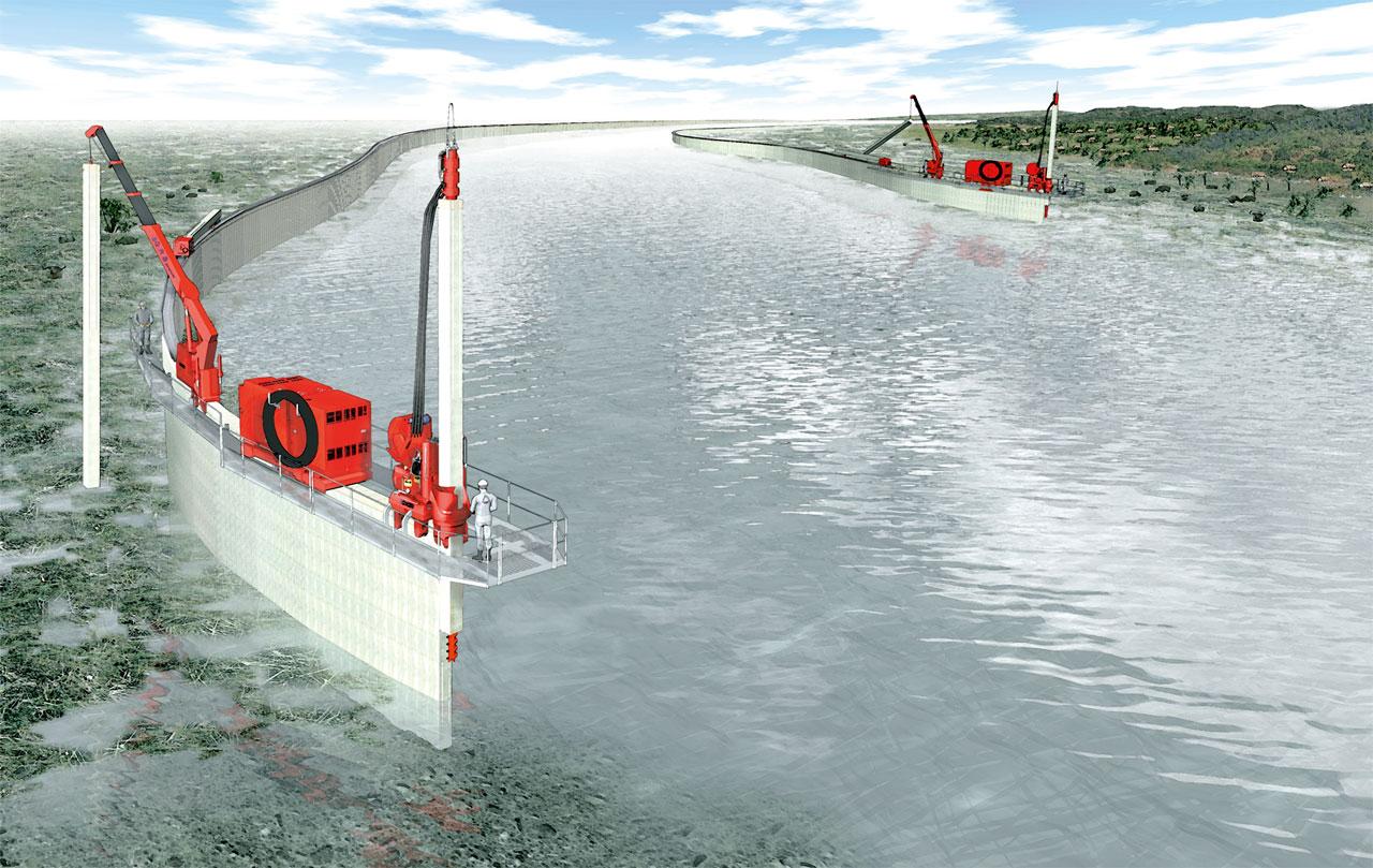 堤防決壊対策「インプラント堤防」 3