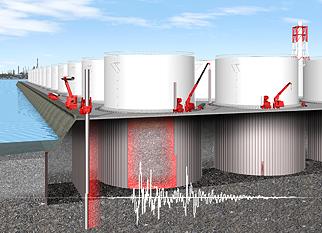 液状化による被害を未然に防ぐ「拘束地盤免震」 2