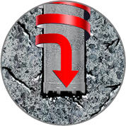 回転掘削圧入(ジャイロプレス工法)貫入イメージ