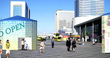 モバイルエコサイクル 駅前やバス停に