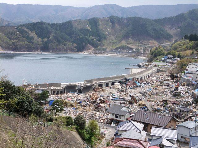 11年かけて建造された全長420mの防潮堤