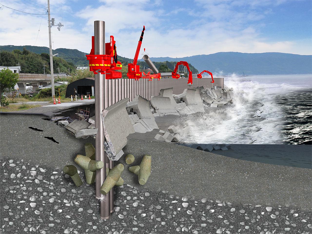 高潮・高波対策「インプラント堤防」 3