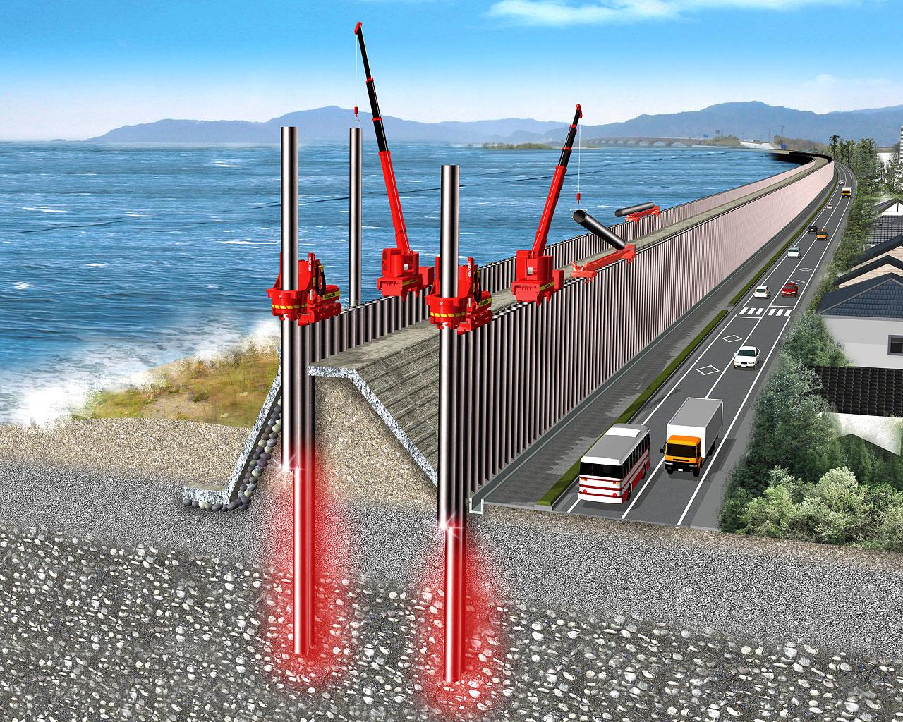 高潮・高波対策「インプラント堤防」 1