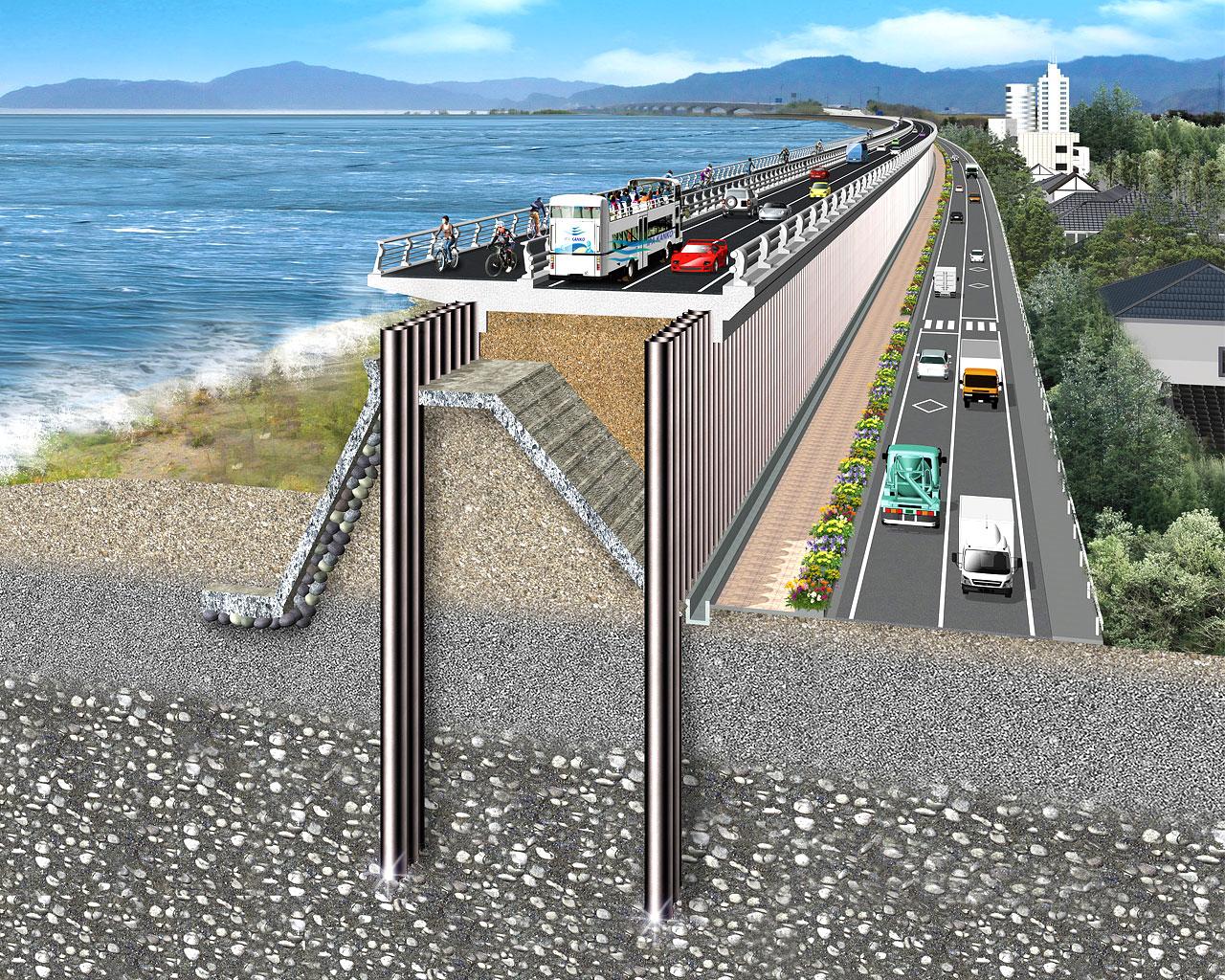 高潮・高波対策「インプラント堤防」 2