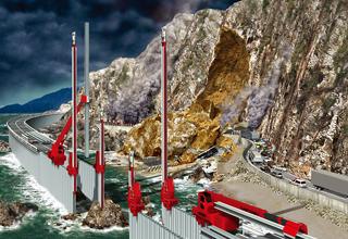 岩盤崩落対策「インプラントウォール」
