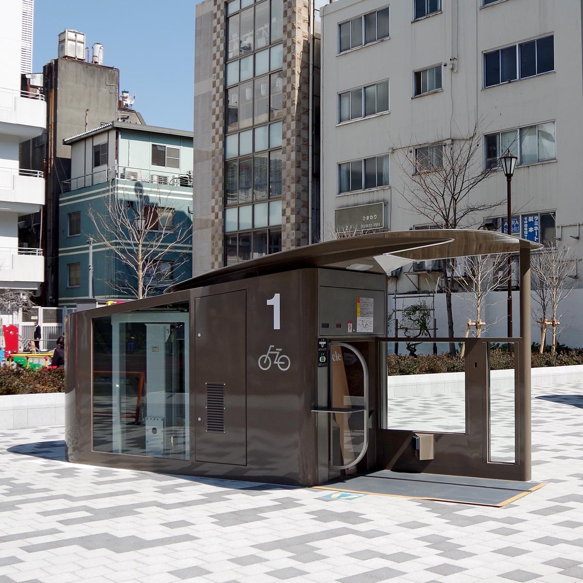 東京都港区新橋に「エコサイクル」2基がオープン