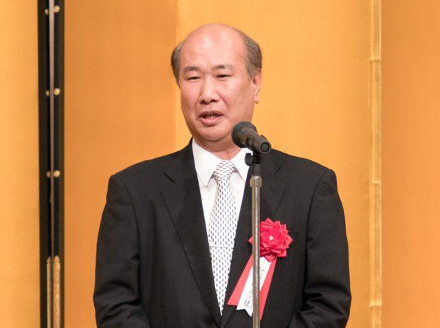 ご挨拶をいただいた 先端技術センター理事長 佐藤直良様