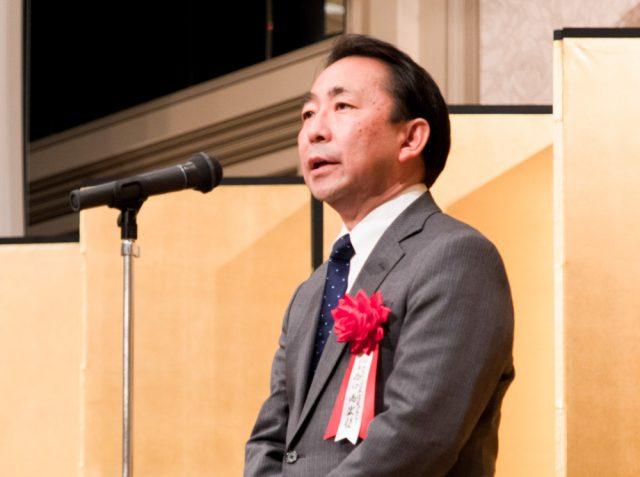 乾杯のご発声をいただいた 日本防災プラットフォーム代表理事 西口尚宏様