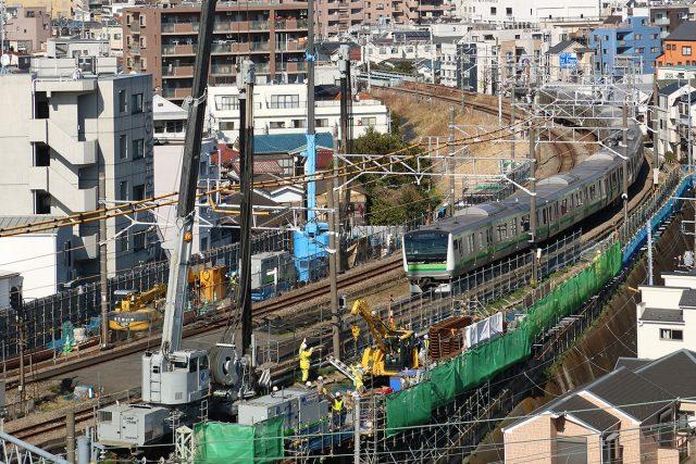 ④鉄道盛土の耐震強化(神奈川県横浜市)