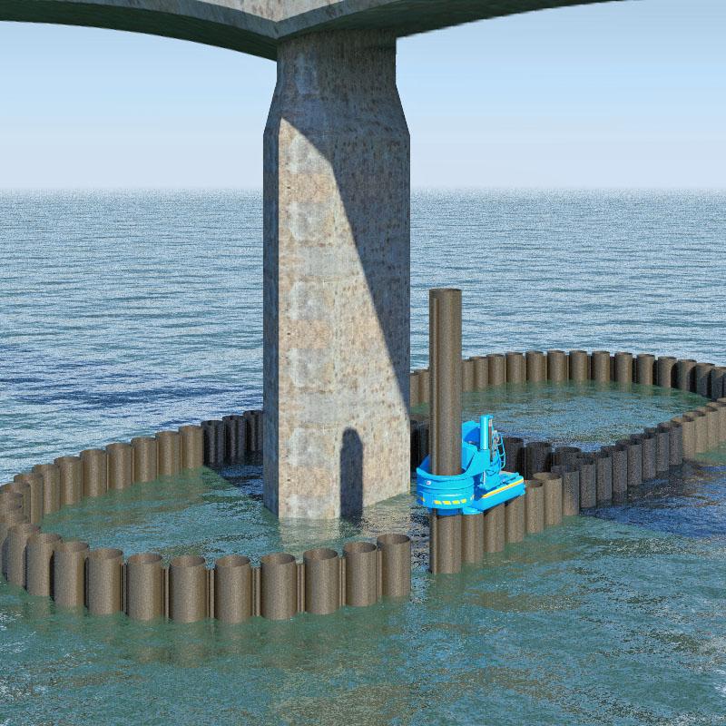 バングラデシュODA案件にて、圧入工法による橋梁の基礎工事を受注